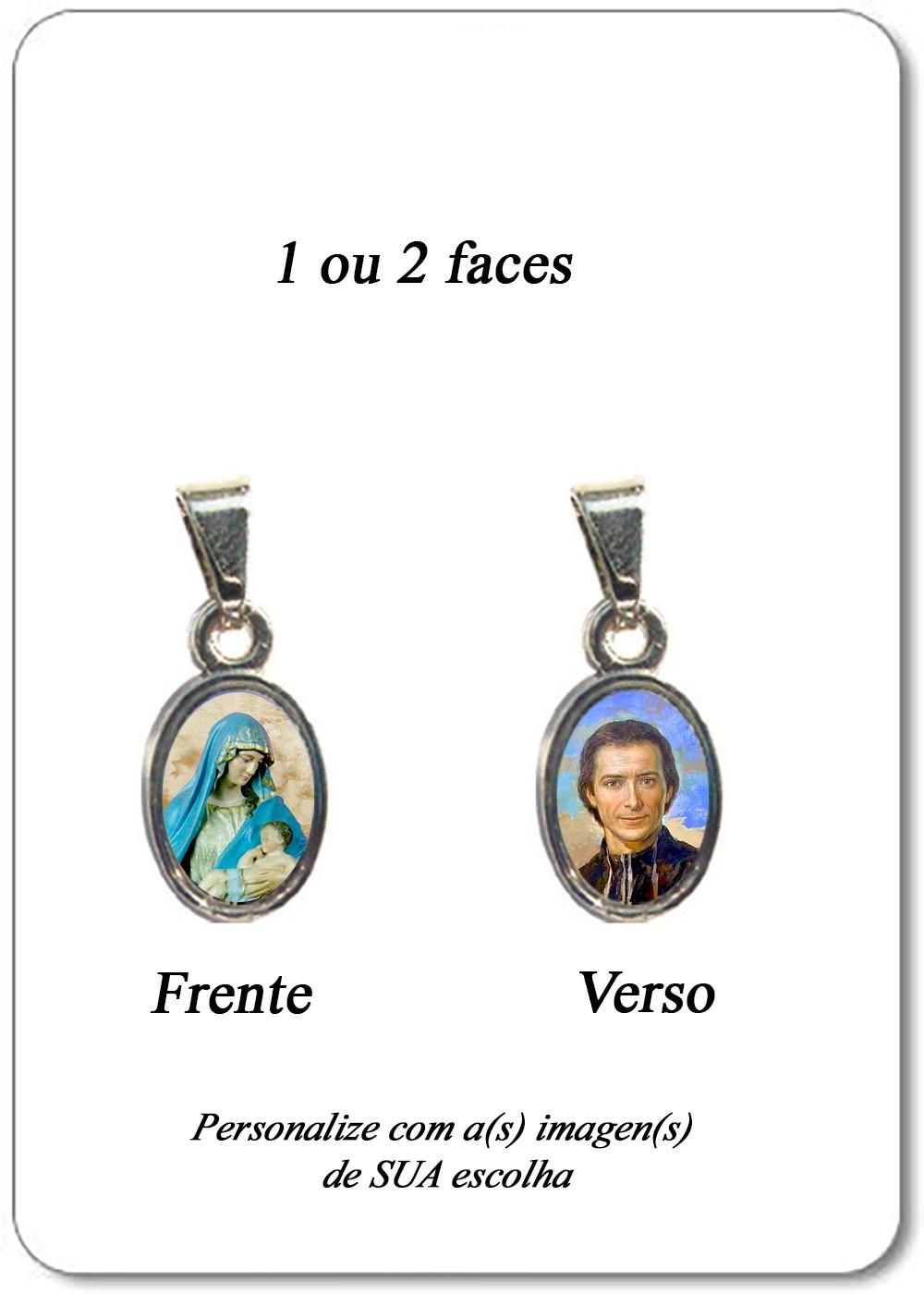 Foto 1 - Item 12 - Medalha Vaticano Oval (1 ou 2 faces)
