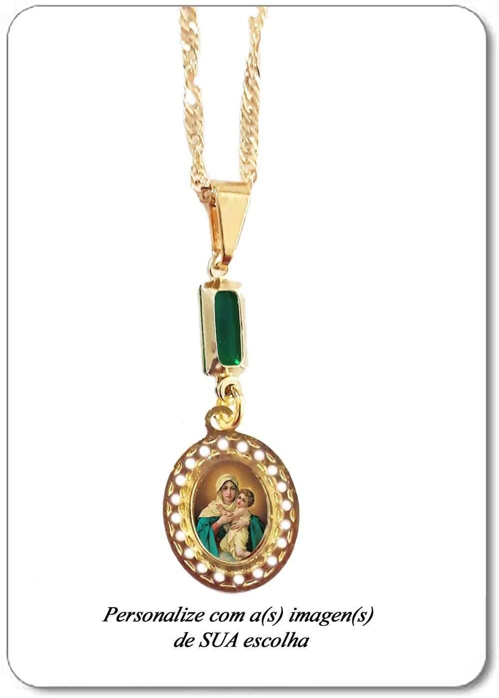 Foto 1 - Item 2238 - Medalha Oval pq com Cristal