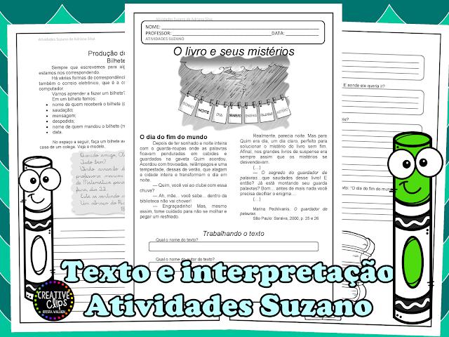 Texto , interpretação e produção de bilhete EM PDF