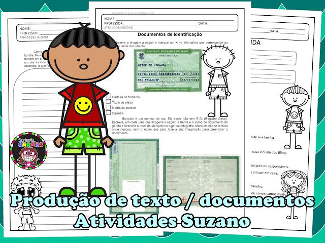 Trabalhando documentos de identificação, contexto de família e comportamento. EM PDF