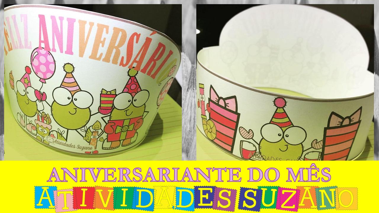 Chapéu comemorativo-aniversariante