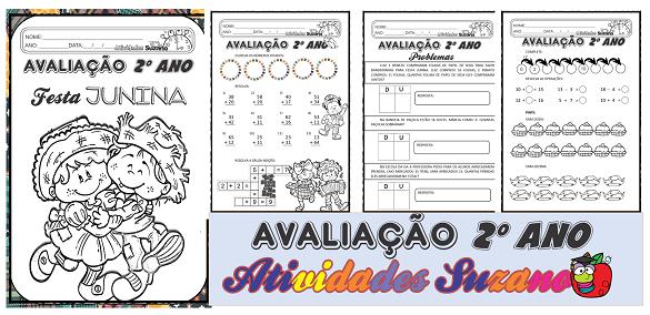 Atividades de matemática: Avaliação junina 2º ano