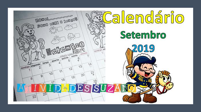 Calendário setembro para imprimir