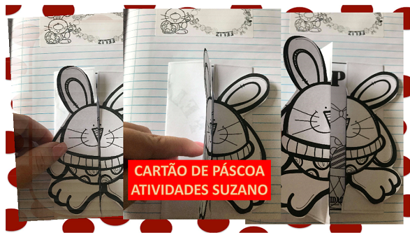Data comemorativa: Cartão coelho de Páscoa