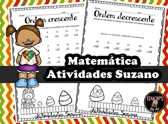 Matemática: Ordem crescente e decrescente