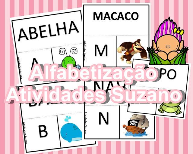 Atividade interativa com alfabeto