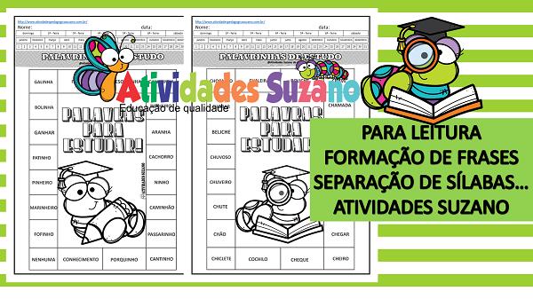 Atividades de Língua Portuguesa: Leitura de palavras com ch/nh BNCC: EF03LP03