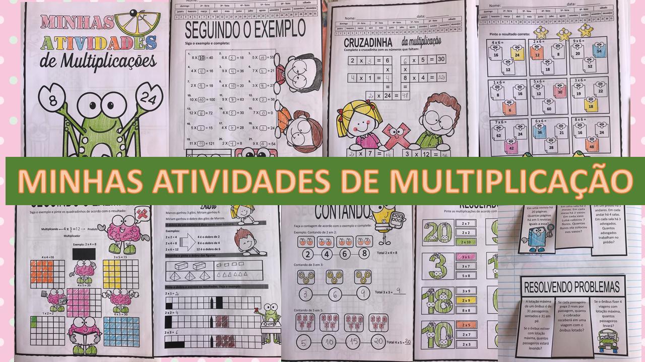 Atividades de matemática: Minhas atividades de multiplicação 2