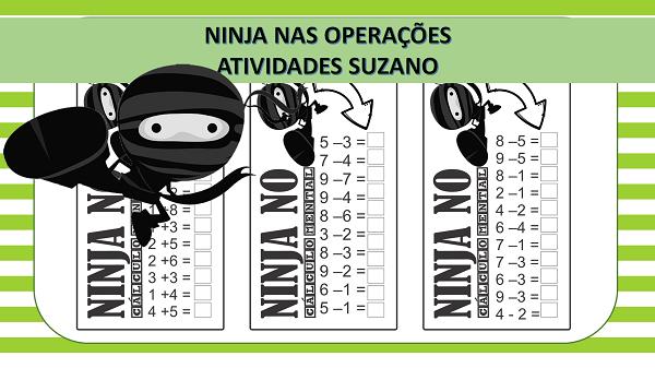 Atividades de matemática: Ninja nas operações