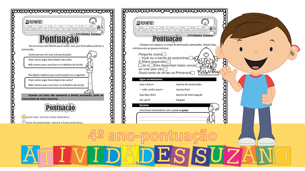 Atividades de Língua Portuguesa: Pontuação 4 ano