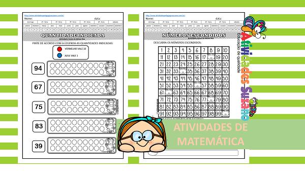 Atividades de matemática: matemática quantidades