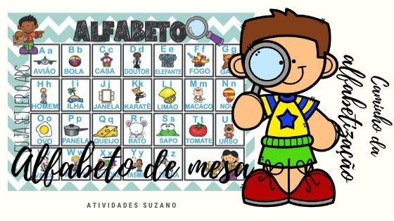 Imagem do produto Alfabeto de mesa ilustrado
