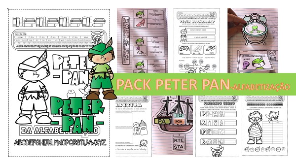 Imagem do produto Atividades de alfabetização- Pack Peter Pan na Terra da alfabetização