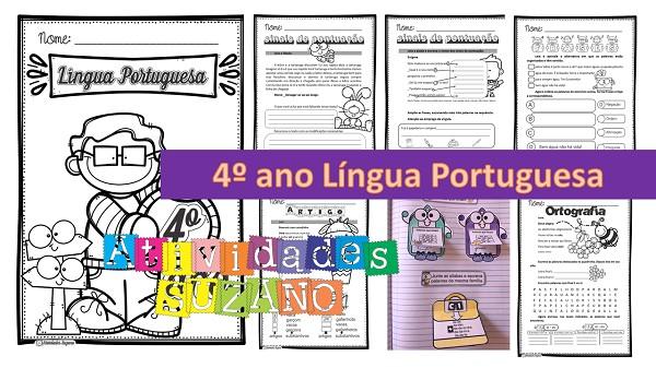 Imagem do produto Atividades de Língua Portuguesa: pack 4º ano atividades