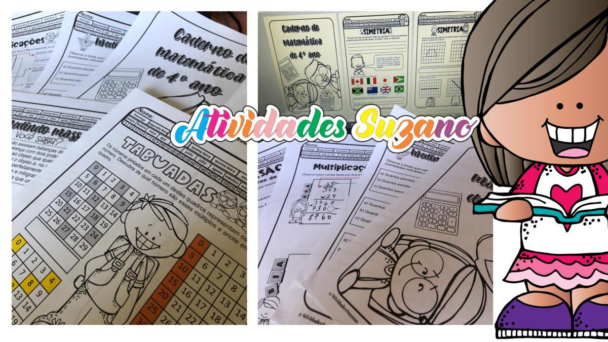 Imagem do produto Caderno de atividades matemáticas para o 4º ano