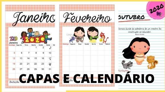 Imagem do produto Capas mensais e calendários personagens infantis