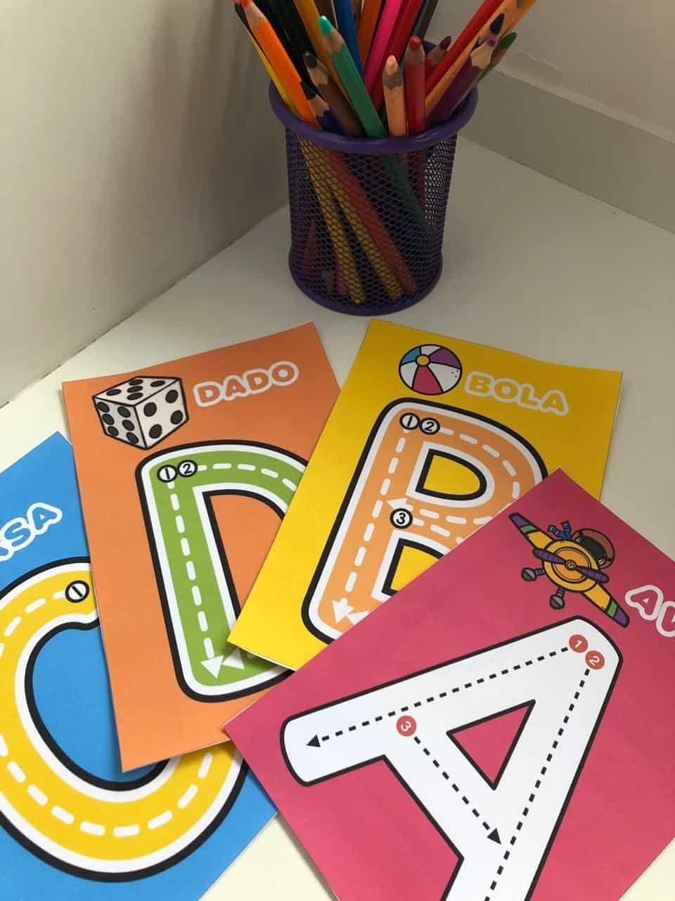 Imagem do produto Cards traçado das letras