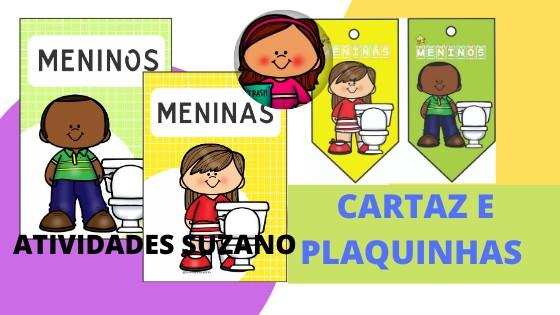 Imagem do produto Cartaz e plaquinha organizadora para saída do banheiro