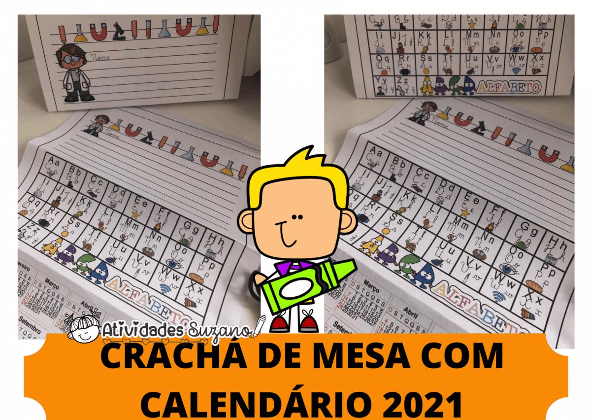 Imagem do produto Crachá de mesa com calendário 2021
