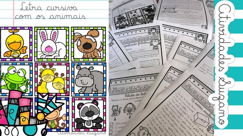 Imagem do produto Letra Cursiva com os animais