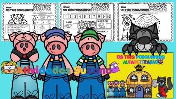 Imagem do produto Os três porquinhos - alfabetização