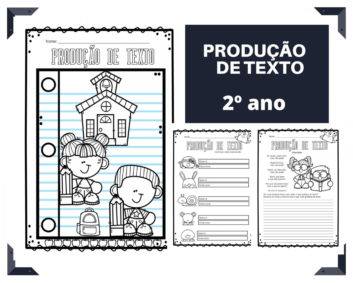 Imagem do produto Produção de texto para o 2º ano - volta às aulas