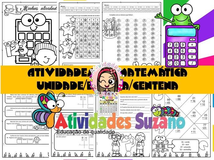 Imagem do produto Atividade de matemática: Unidade, dezena e centena