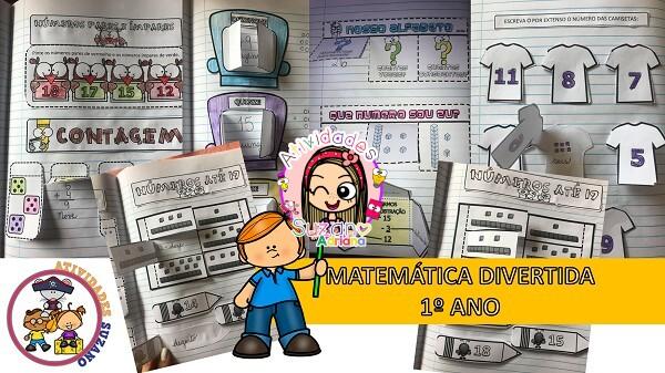 Imagem do produto Atividades de matemática: 1º ano matemática divertida interativa