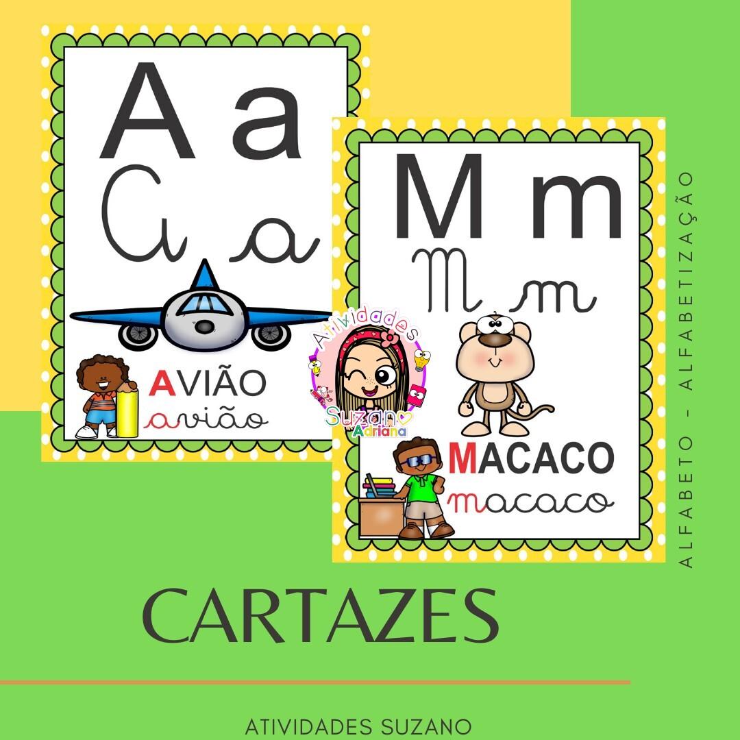 Imagem do produto CARTAZ DO ALFABETO TEMA VOLTA ÀS AULAS