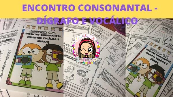 Imagem do produto Encontro vocálico, encontro consonantal e dígrafos - atividades