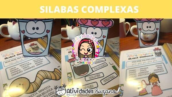 Imagem do produto Fichas de leitura sílabas complexas