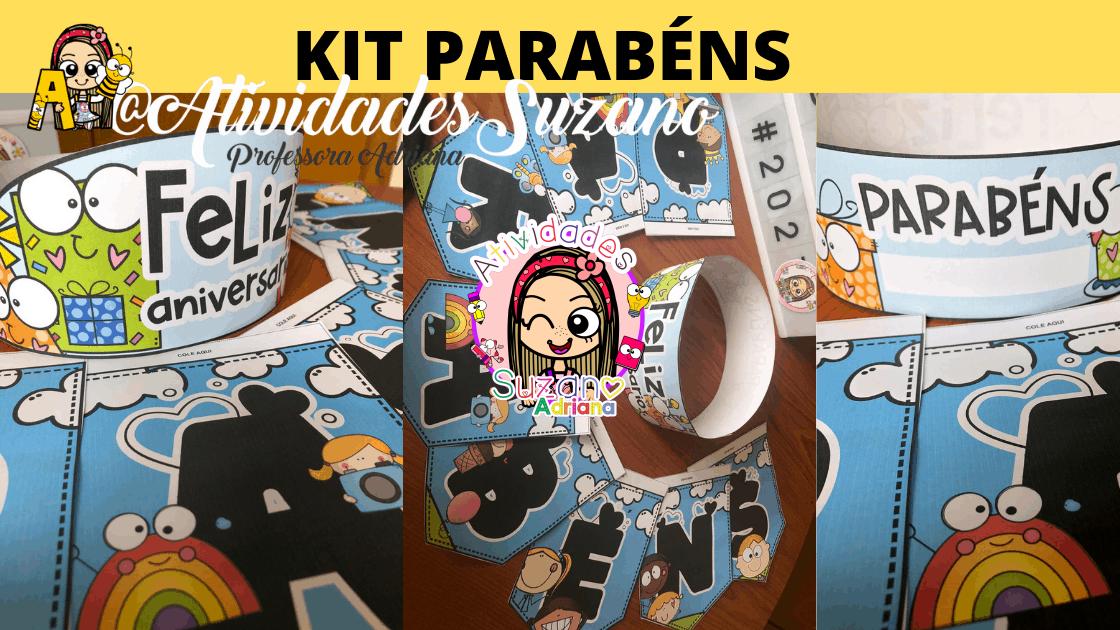 Imagem do produto Kit Parabéns para sala de aula ou festinha