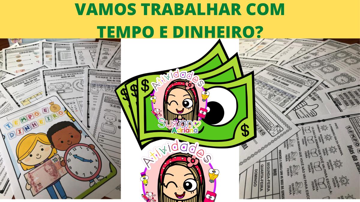 Imagem do produto PACOTE PARA TRABALHAR NOÇÕES DE TEMPO E DINHEIRO - 1º ou 2º ano