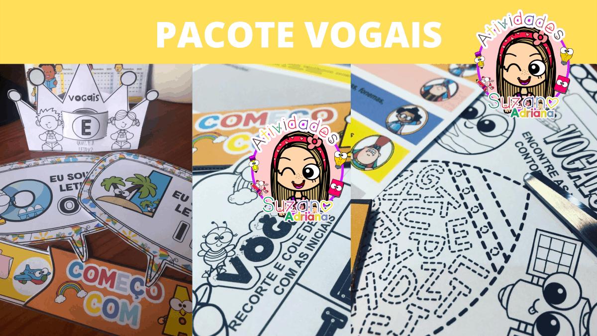 Imagem do produto Pacote vogais - atividades 1