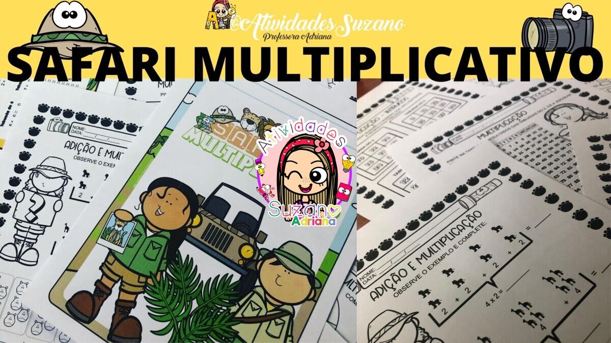 Imagem do produto Safari multiplicativo 2º ano - atividades de multiplicação