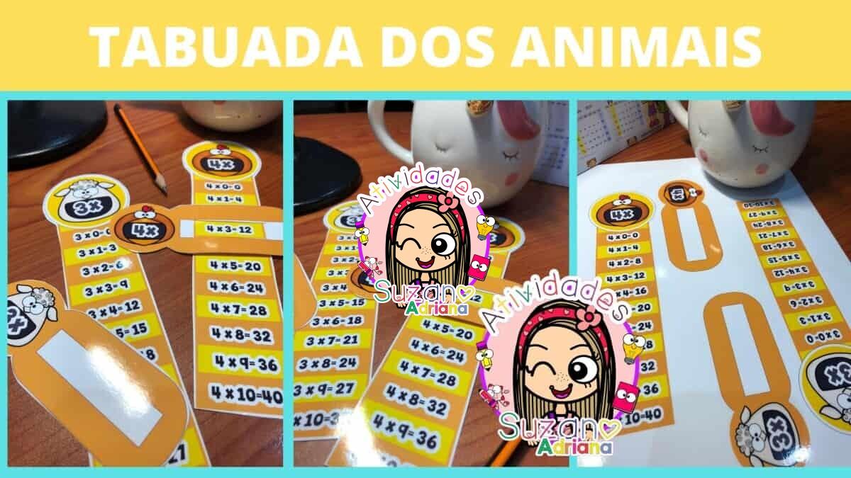 Imagem do produto Tabuada com os animais