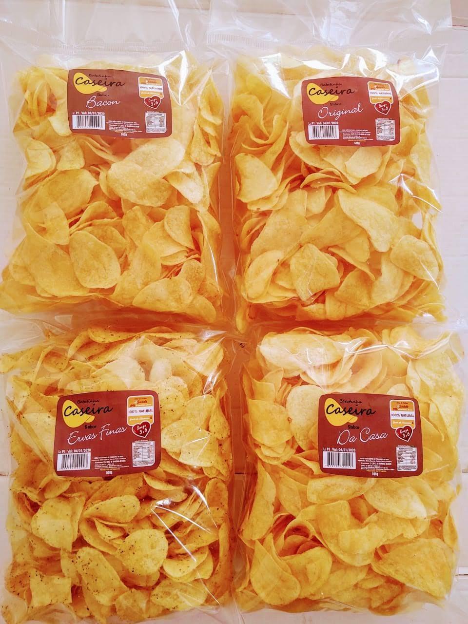 Imagem do produto Batatinha Caseira - Monte Seu Kit - Sabores Bacon, Ervas Finas, Original e Da Casa