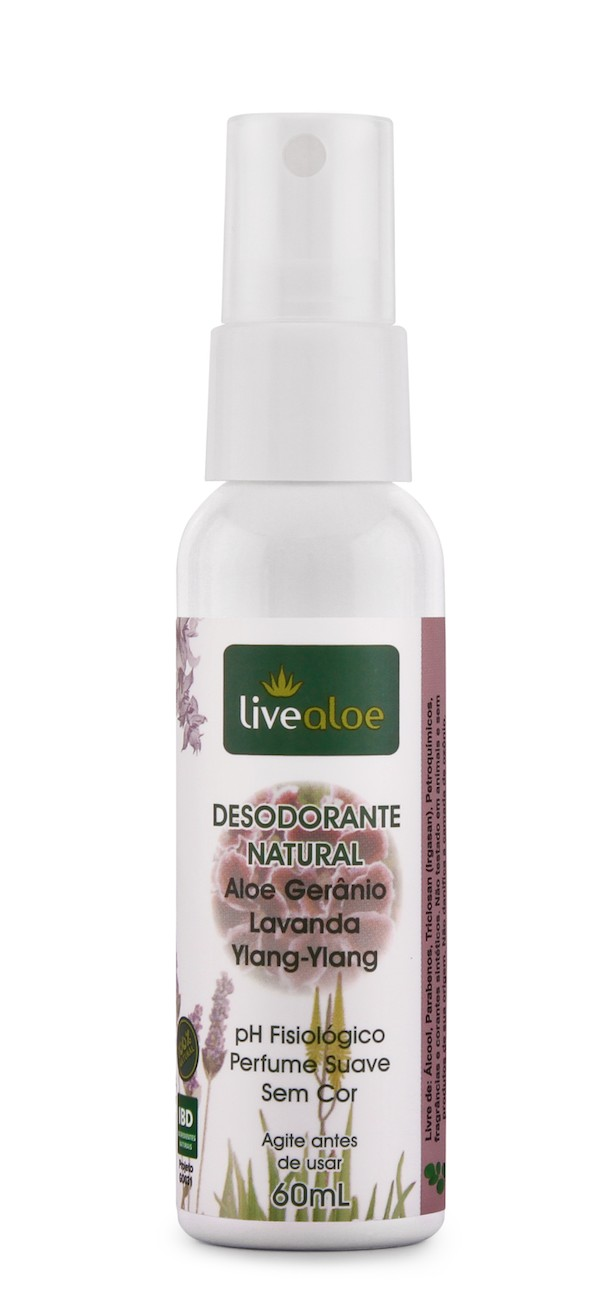 Foto 1 - DESODORANTE NATURAL ALOE GERÂNIO 60ML