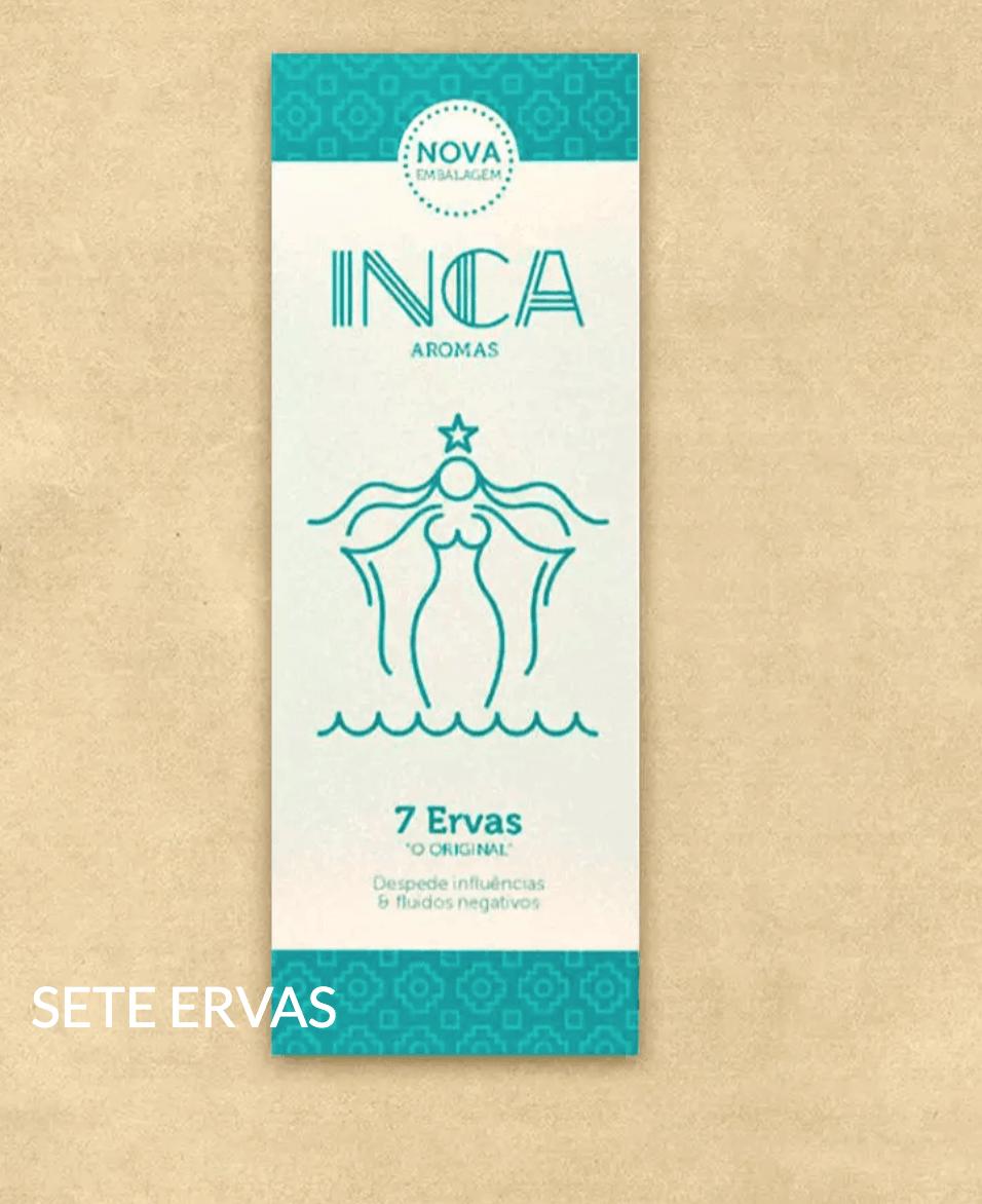 Foto 1 - INCENSO INCA AROMAS - SETE ERVAS - LINHA MÃE DOS LARES - 9 VARETAS