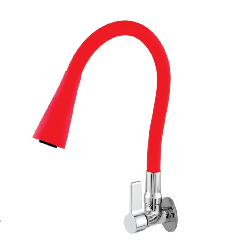 Imagem do produto Torneira Safira Parede Bica Móvel Tubo Silicone Soft 1/4 de Volta