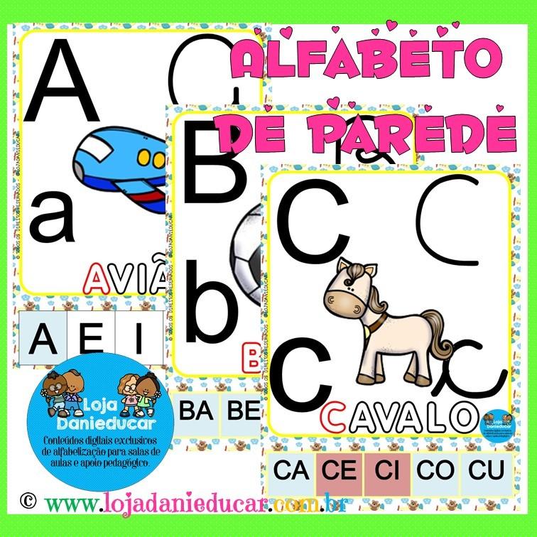 Imagem do produto Alfabeto de parede com sílabas