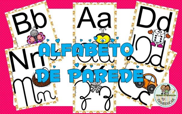 Imagem do produto Alfabeto de parede ilustrado - 4 letras