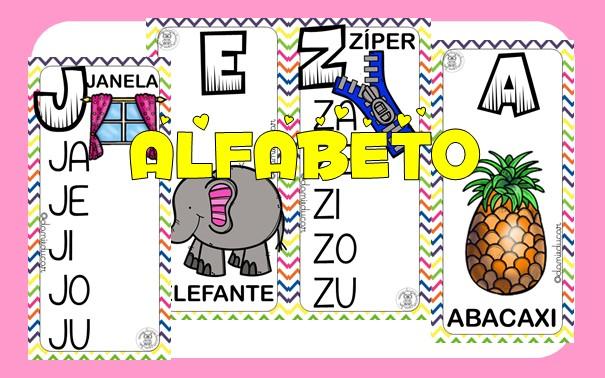 Imagem do produto Alfabeto de parede ilustrado - zig zag