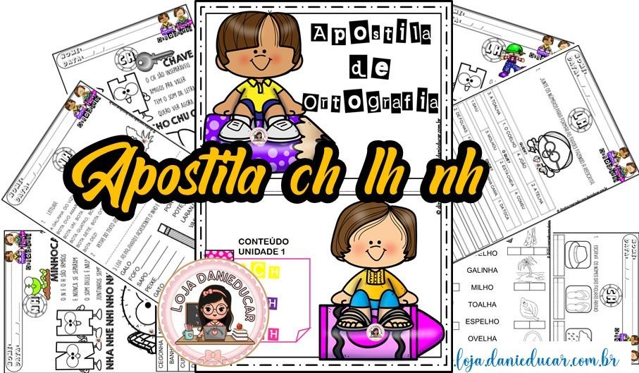 Imagem do produto Apostila de Ortografia - Ch , Nh e Lh