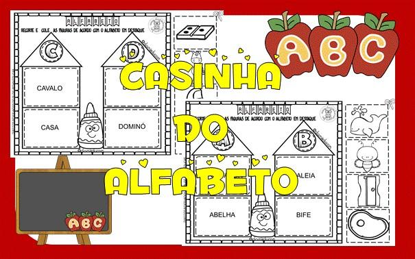 Imagem do produto Atividades de alfabetização - casinha do alfabeto