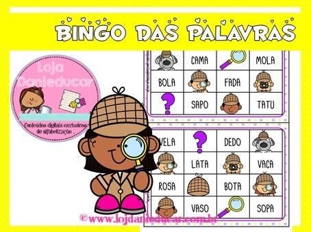 Imagem do produto Bingo de palavras simples - detetive