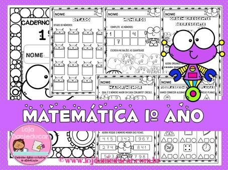 Imagem do produto Caderno de atividades - 1º ano - Matemática