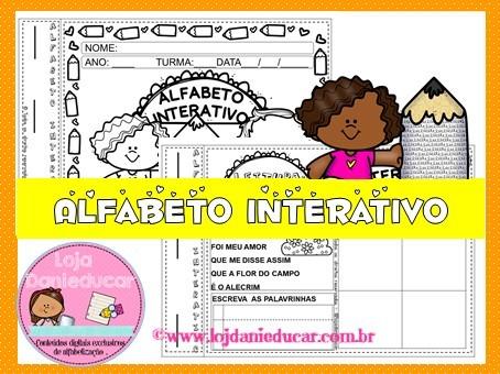 Imagem do produto Caderno de atividades - alfabeto interativo