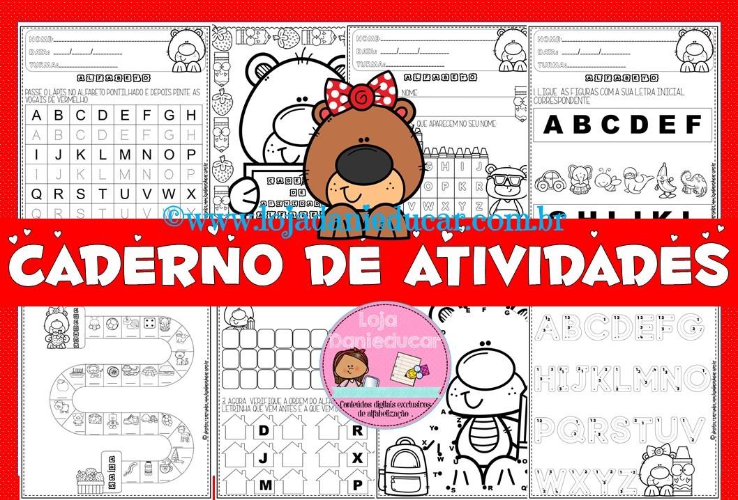 Imagem do produto Caderno de atividades - alfabeto