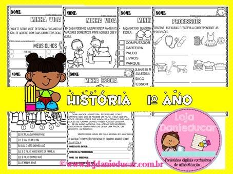 Imagem do produto Caderno de atividades de História - 1º ano